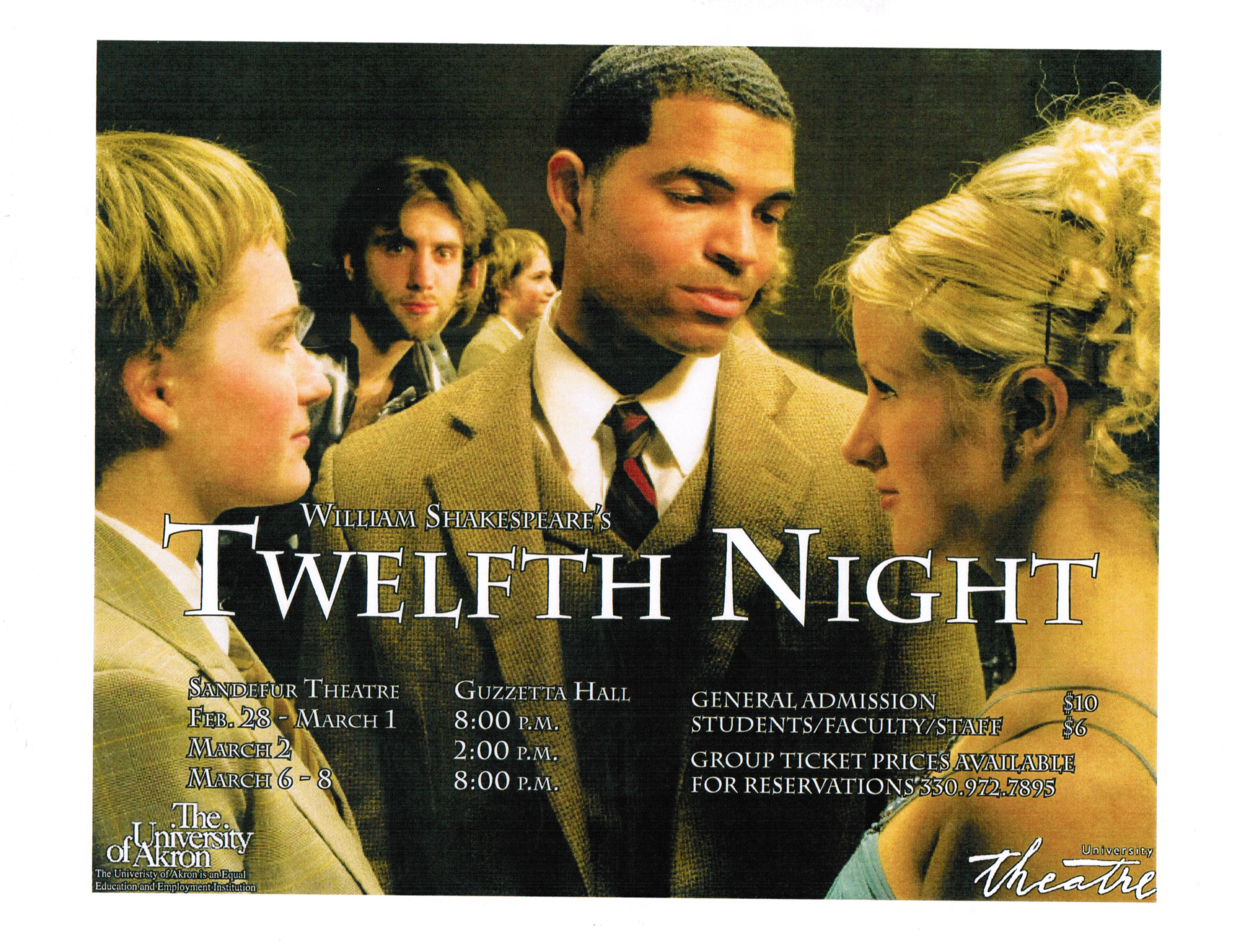 twelfth night lies and deceit William shakespeare's twelfth night is a romantic comedy written for the elizabethan stage  in delay there lies no plenty  deceit drives the plot of twelfth .